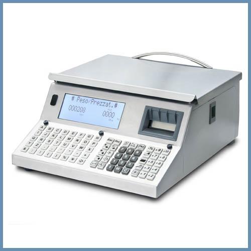 Balance INOX avec étiqueteuse et clavier mécanique